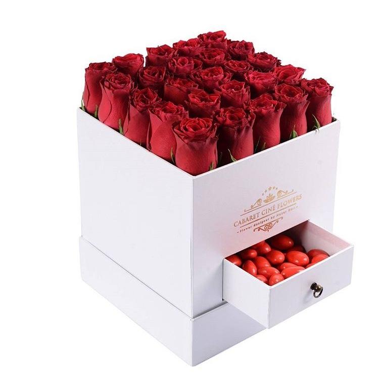 Kare Kutuda Kırmızı Güller